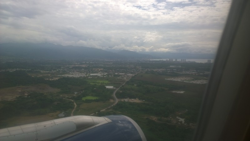 Flight into Puerto Vallarta